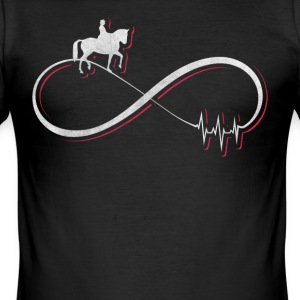 I love dressage design / gift - Men's Slim Fit T-Shirt