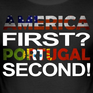 America first Portugal second - Men's Slim Fit T-Shirt