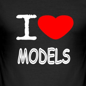 I LOVE MODELS - Männer Slim Fit T-Shirt