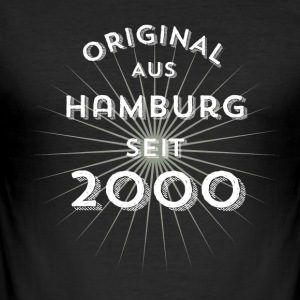Original from Hamburg since 2000 - Men's Slim Fit T-Shirt