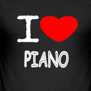 I LOVE PIANO - Männer Slim Fit T-Shirt