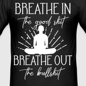 Yoga Inhale Exhale - Men's Slim Fit T-Shirt