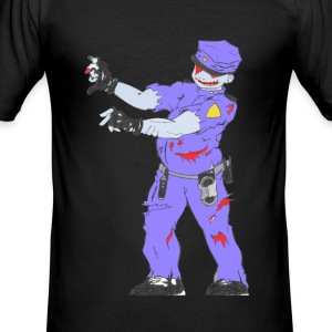 Zombie Collection: Police Zombie - Men's Slim Fit T-Shirt