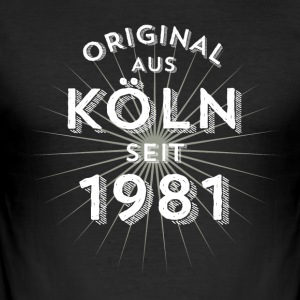 Original from Cologne since 1981 - Men's Slim Fit T-Shirt