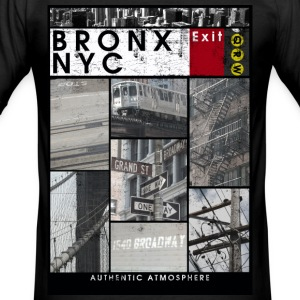 Bronx Nyc - Männer Slim Fit T-Shirt