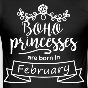 Boho Princesses are born in February - Men's Slim Fit T-Shirt