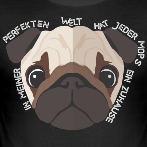 Pug - home - Love - Animal - Herre Slim Fit T-Shirt
