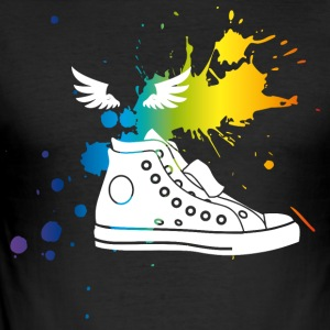 sneaker splash Hermes Gay Pride CSD kleurrijke humor lol - slim fit T-shirt