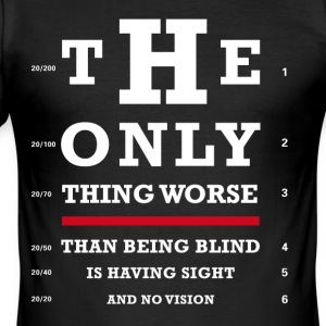 Eye test optikk moro Joker skarp humor typo lol bril - Slim Fit T-skjorte for menn