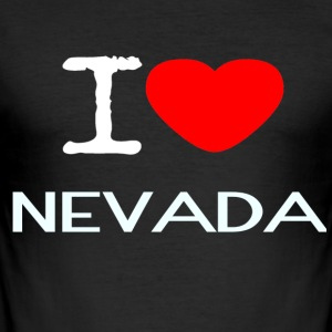I LOVE NEVADA - Slim Fit T-skjorte for menn