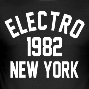 Electro 1982 in New York - Männer Slim Fit T-Shirt