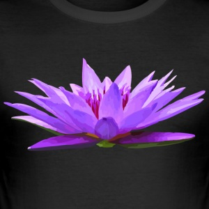 Lily - Nymphaea colorata - Slim Fit T-shirt herr