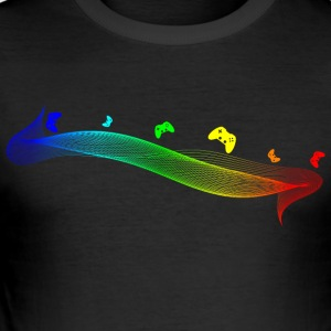 Gamepad Spectrum af Juiceman Benji - Herre Slim Fit T-Shirt