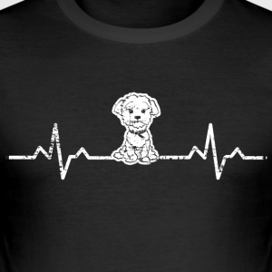 Et hjerte for West Highland White Terrier hunde - Herre Slim Fit T-Shirt