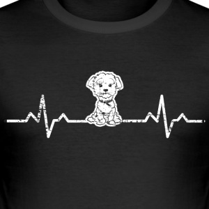 A heart for West Highland White Terrier dogs - Men's Slim Fit T-Shirt
