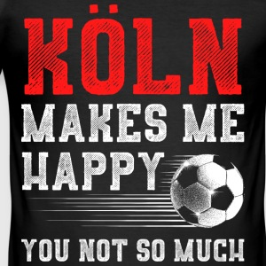 MAKES ME HAPPY Koeln - Men's Slim Fit T-Shirt