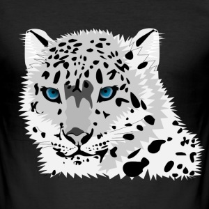 snow leopard - Men's Slim Fit T-Shirt