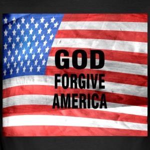 GOD FORGIVE AMERICA - Men's Slim Fit T-Shirt