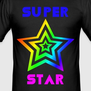 Rainbow Super stjerne - Herre Slim Fit T-Shirt