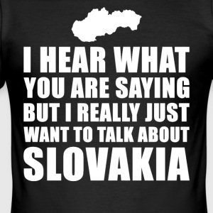 Funny Slovakia Gift Idea - Men's Slim Fit T-Shirt