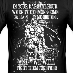 In your darkest hour call on me (light) - Men's Slim Fit T-Shirt