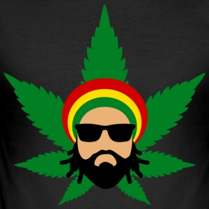 Rasta Herbalist - Men's Slim Fit T-Shirt