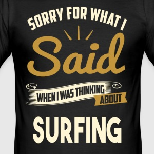 SURFING Wellenreiten Surfen - Männer Slim Fit T-Shirt