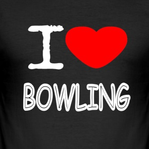 I LOVE BOWLING - Männer Slim Fit T-Shirt