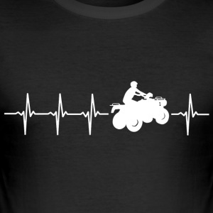 Ik hou van quad (quad heartbeat) - slim fit T-shirt
