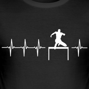 I love hurdling (BMX hurdles) - Men's Slim Fit T-Shirt