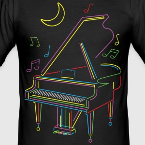 Bright piano - Slim Fit T-skjorte for menn