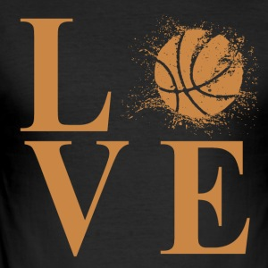 Jeg elsker basketball! - Slim Fit T-skjorte for menn