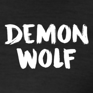 DemonWolf Text-Logo - Männer Slim Fit T-Shirt
