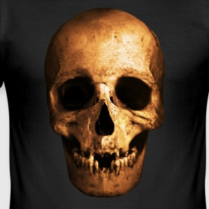 skull - Slim Fit T-skjorte for menn