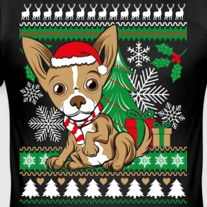 Chihuahua Weichnachten Ugly Sweater - Slim Fit T-shirt herr