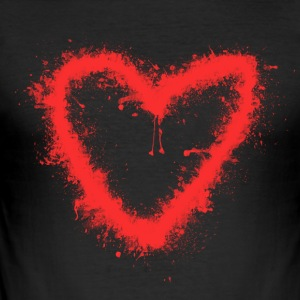 Spray-Heart - Herre Slim Fit T-Shirt