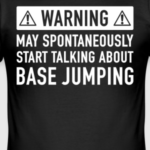 Grappig Base Jumping Cadeau Idee - slim fit T-shirt