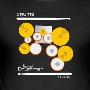 Drums Fusion White - slim fit T-shirt