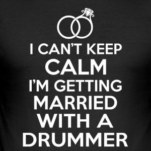 Married with a drummer - Men's Slim Fit T-Shirt