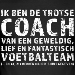 Trotse Coach Voetbalteam - slim fit T-shirt