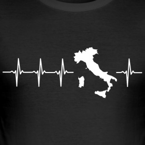 Italy, heartbeat design (I love Italy) - Men's Slim Fit T-Shirt