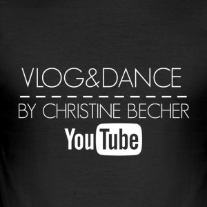 VLOG & DANCE av Christine vit mugg - Slim Fit T-shirt herr