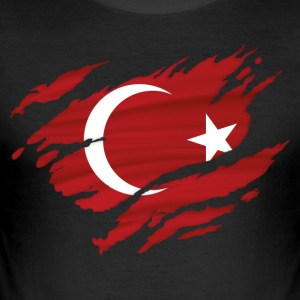 Tyrkia! Türkiye! Tyrkia! - Slim Fit T-skjorte for menn