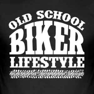 Old School Biker - Men's Slim Fit T-Shirt