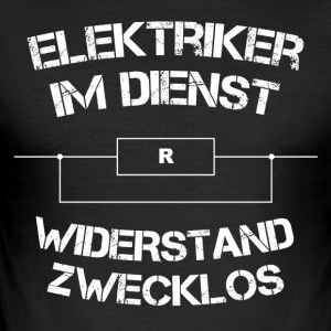 Electricians in service - Men's Slim Fit T-Shirt