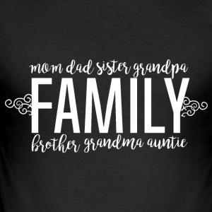 Family Love - Family - Men's Slim Fit T-Shirt