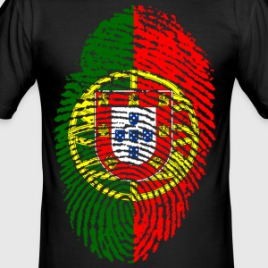 PORTUGAL / PORTUGIESE FINGERABDRUCK - Männer Slim Fit T-Shirt