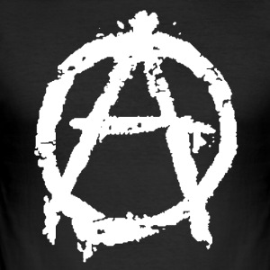 Anarchy2k Logo - Männer Slim Fit T-Shirt