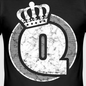 Stylish letter Q with crown - Men's Slim Fit T-Shirt