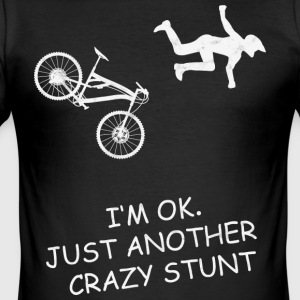 MTB Mountainbike - Stunt Downhill - Men's Slim Fit T-Shirt